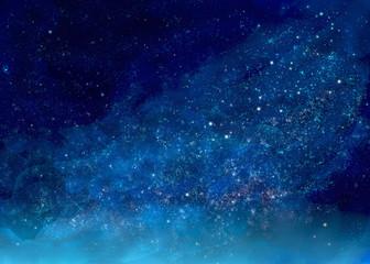 キラキラ輝く星空の景色