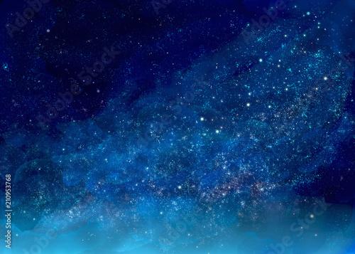 Fototapeta キラキラ輝く星空の景色 obraz