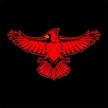 Cardinal Red Bird Esport Gaming Mascot Logo Template