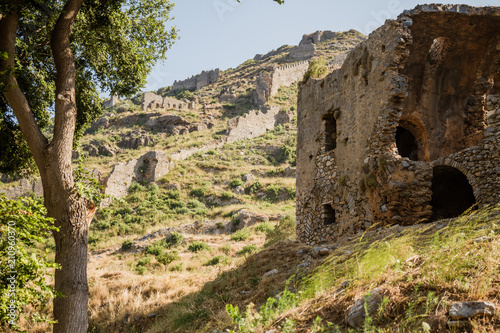 Foto op Canvas Rudnes Ruins of the Ancient Roman City Anemurium in Anamur, Turkey