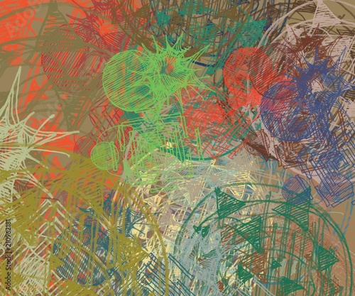 Papiers peints Imagination Abstract painting on canvas. Hand made art. Colorful texture. Modern artwork. Strokes of fat paint. Brushstrokes. Contemporary art. Artistic background image.