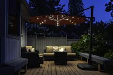 Backyard Deck Umbrella Summer ...