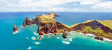 Ponta Do Sao Lourenco Surounded By The Waters Of The Atlantic Ocean, Madeira Island
