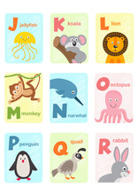 Alphabet Card With Animals J T...