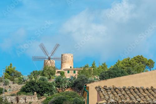 Poster Molens Windmühle in Andratx, Mallorca