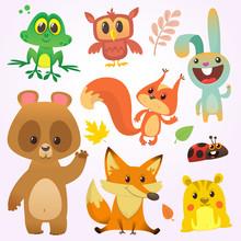 Cartoon Forest Animal Characte...