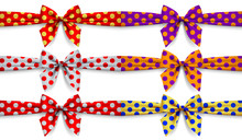 Set Of Polka Dot Ribbons With ...