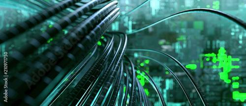 Kabel in Serverraum