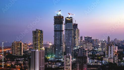 Naklejki na drzwi Mumbai skyline - Wadala, Sewri, Lalbaug
