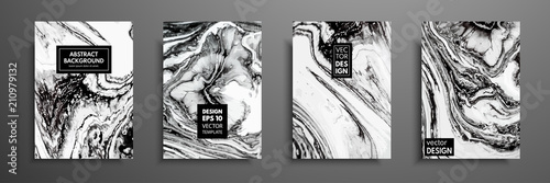 Mixture of acrylic paints. Liquid marble texture. Fluid art. Applicable for design cover, presentation, invitation, flyer, annual report, poster and business card, desing packaging. Modern artwork. - fototapety na wymiar