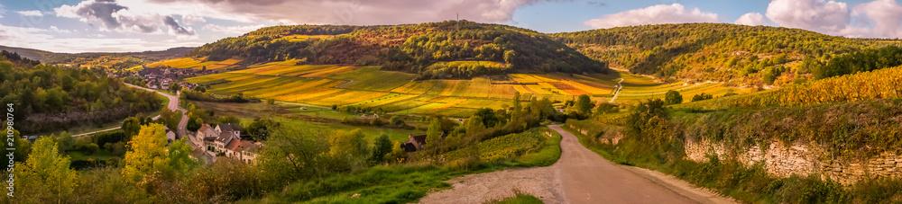 Fototapeta village de Bourgogne