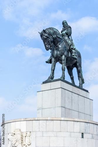 Photo  Equestrian statue of Jan Zizka near Vitkov memorial