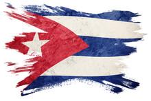 Grunge Cuba Flag. Cuban Flag W...