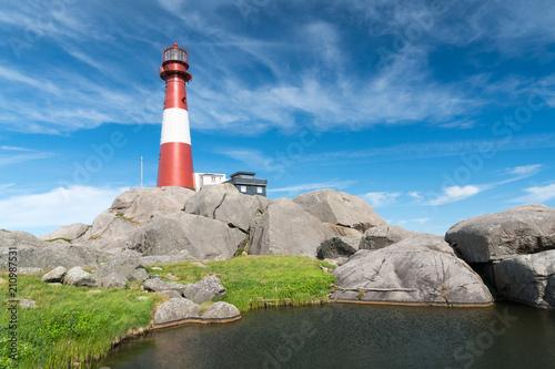 Montage in der Fensternische Leuchtturm Eigerøy Fyr
