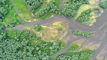 Aerial Landscape -natural River