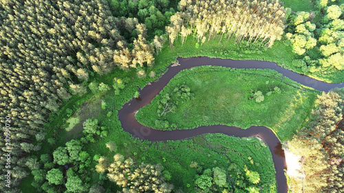 aerial-view-from-drone-river-in-the-forest