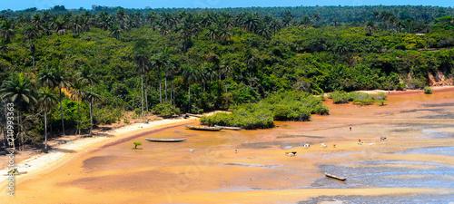 Cuadros en Lienzo  Aerial view of the coast of Bubaque island, Bissagos Archipelago (Bijagos), Guinea Bissau