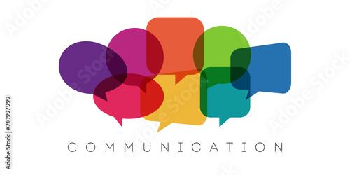 speech bubbles, communication concept, vector illustration Canvas Print