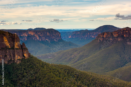 Fototapeta  Govetts leap lookout during the morning at Blackheath New South Wales Australia