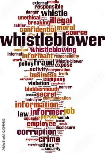 Fotografía Whistleblower word cloud
