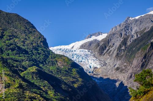 In de dag Oceanië Franz Josef glacier, New Zealand