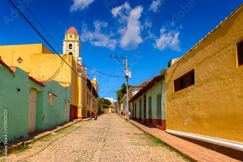 The Church and  Convent of San Francisco of Trinidad, Cuba Wallpaper Mural