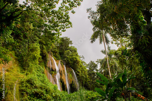 El Nicho, a waterfall in Topes de Collantes, a nature reserve park in the Escambray Mountains range in Cuba Canvas Print