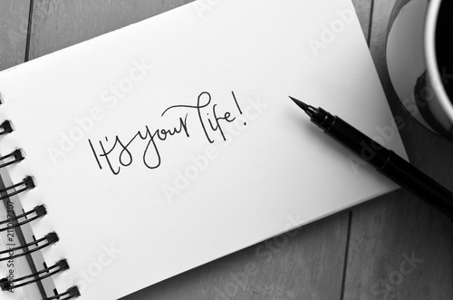 IT'S YOUR LIFE! hand-lettered in notepad Canvas Print