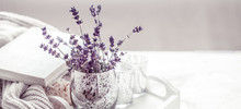 Composition With Lavender In A...