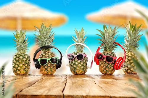 Summer photo of fresh pineapple
