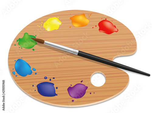 Artists palette Fototapeta
