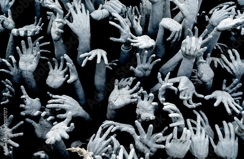 Photo Hands from hell - Horror Background For Halloween Concept