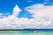 Blue sky in tropical beach in Koh Mak island, Trat province,Thailand