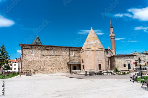 Foto op Aluminium Oude gebouw Esrefoglu Mosque in Beysehir Konya