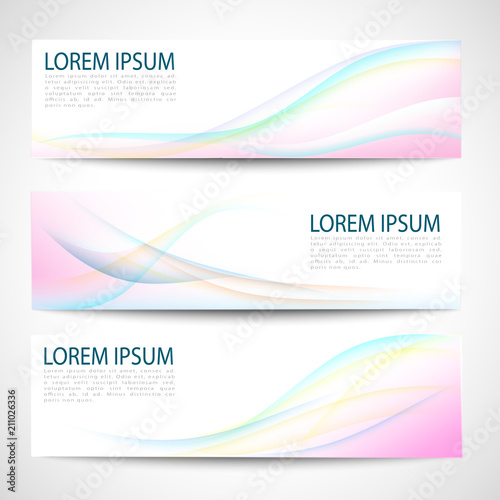 Tuinposter Abstract wave Abstract rainbow color wave design element with multi color lighting effect. multi color line and wave.