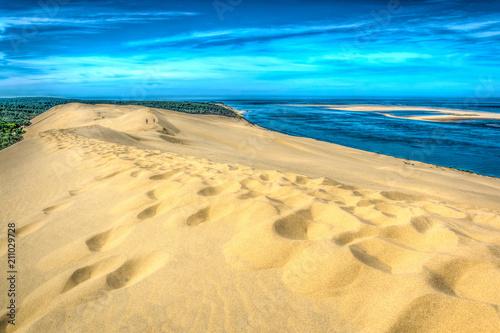 Dune du Pilat, the biggest sand dune in Europe, France Canvas