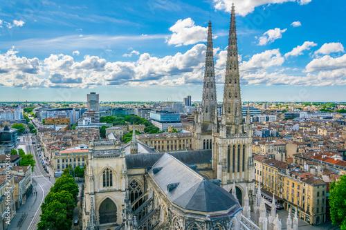 Aerial view of Cathédrale Saint-André de Bordeaux in Bordeaux, France