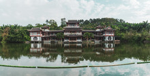 Landscape Of Old Oriental Buil...