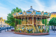 Merry-go-round On A Square In ...