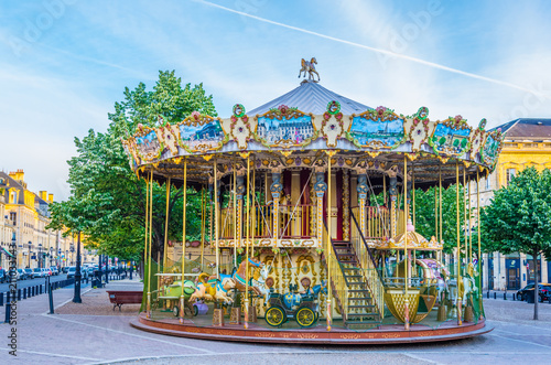 Fototapeta  Merry-go-round on a square in Bordeaux, France