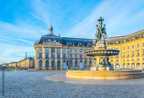 View of Place de la Bourse in Bordeaux, France