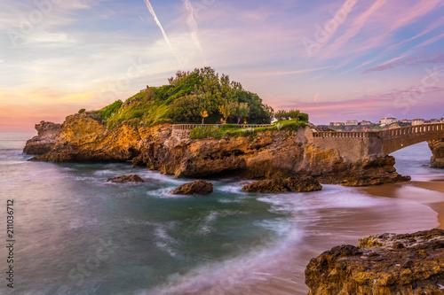 Rocher Du Basta island in Biarritz, France Wallpaper Mural