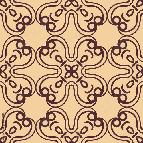 Foto op Canvas Kunstmatig Ornamental seamless pattern