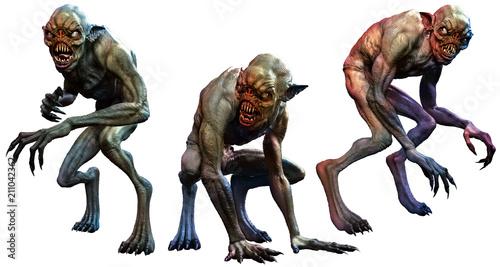 Swamp horrors 3D illustration Wallpaper Mural