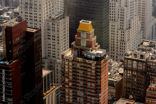 Poster Chicago Rooftops of the buildings of Manhattan, New York, NY, United States of Americs
