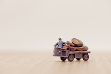 Miniature Toy Truck Loaded Wit...