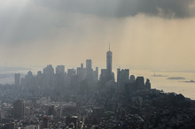 Silhouette Of Manhattan, New Y...