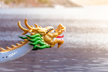Decorated Figurehead Of Dragon Boat