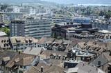 Fototapeta Miasto - Szwajcaria - miasto w słońcu
