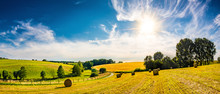 Landscape In Summer With Brigh...